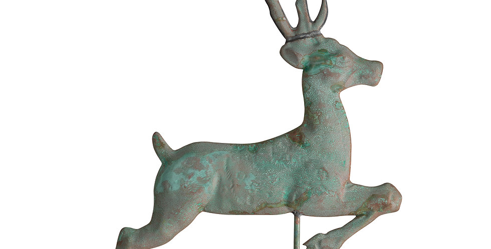 Copper Deer Weathervane - Verdigris finish