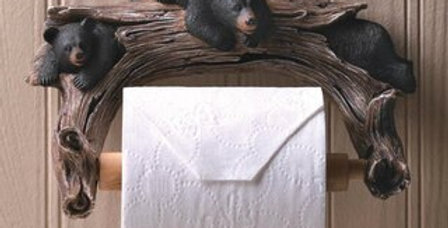 Rustic Bear Bathroom Decor Set