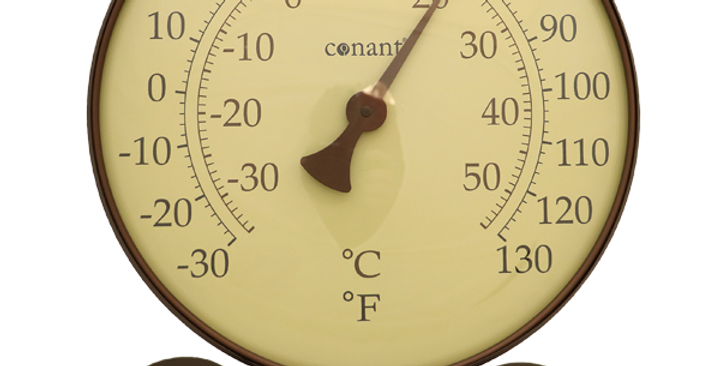 """Décor Convertible Large Thermometer (""""Large Classic"""" in Bronze Patina)"""