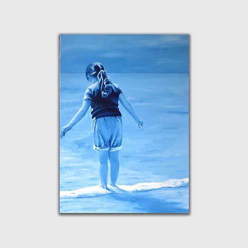 Avant l'orage, 100 x 73 cm, acrylique sur toile, 2015