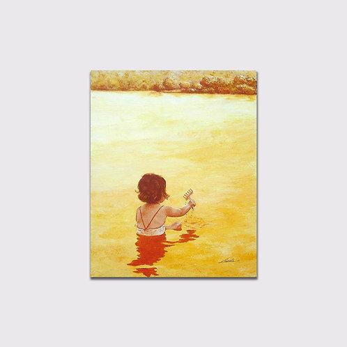 Jeux d'eau, 100 x 80, acrylique sur toile, 2006