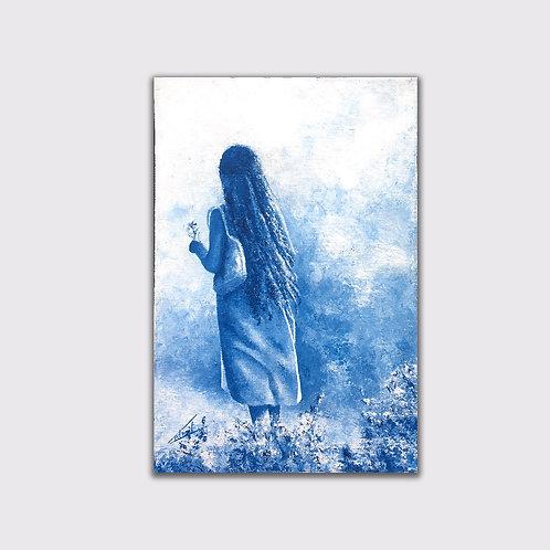 Dans la brume, 35 x 24 cm, acrylique sur toile, 2017