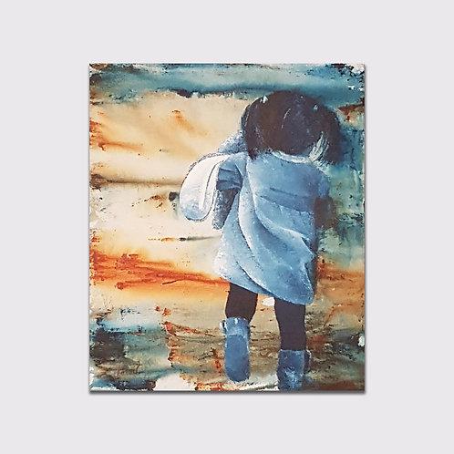 Evanescent, 46 x 38 cm, Acrylique sur toile, 2019
