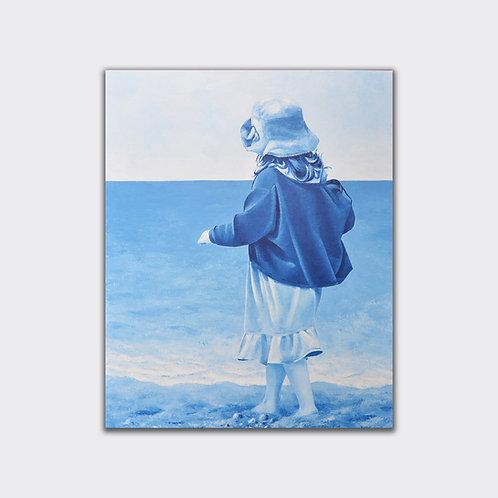 Avec prudence, 100 x 81, acrylique sur toile, 2016