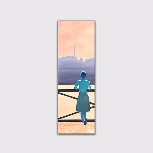 Image du passé,                120 x 40 cm,            Acrylique sur toile, 2020