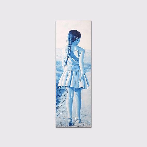 Nonchalence, 150 x 50, acrylique sur toile, 2017
