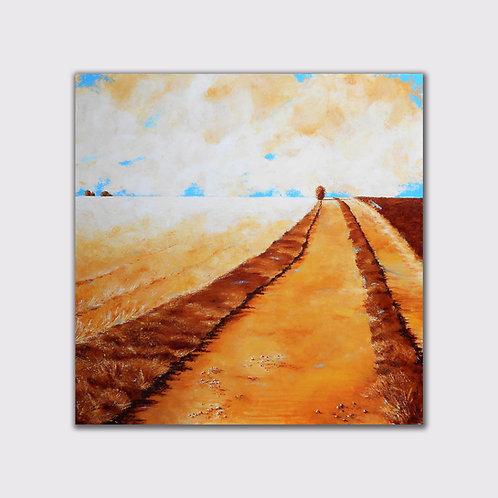 Chemin, 100 x 100, acrylique sur toile, 2017