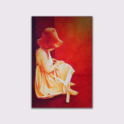 Petite pause, 120 x 80 cm, acrylique sur toile, 2018
