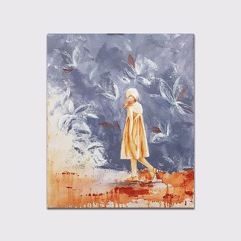 La Forêt, 55 x 46 cm, Acrylique sur toile, 2019