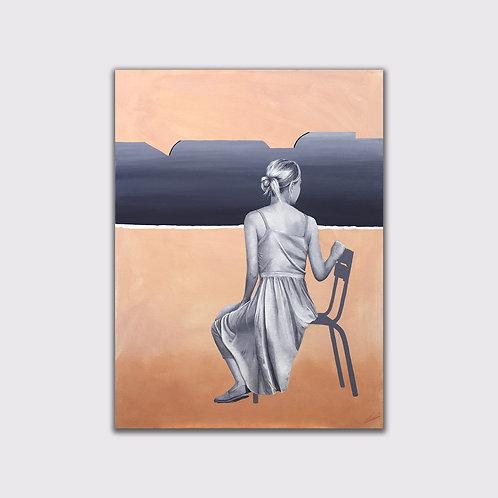 Dernier regard, 80 x 60 cm, Acrylique sur toile, 2020