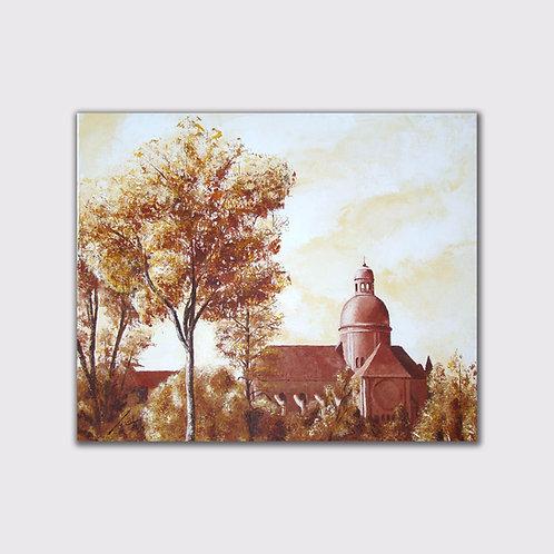 St Quiriace, 46 x55, acrylique sur toile, 2015