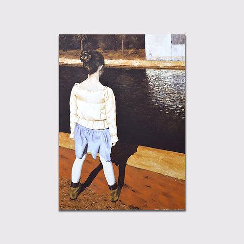 Au bord du canal, 100 x 70 , acrylique sur toile, 2015
