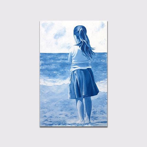Pensive, 92 x 60, acrylique sur toile 2016