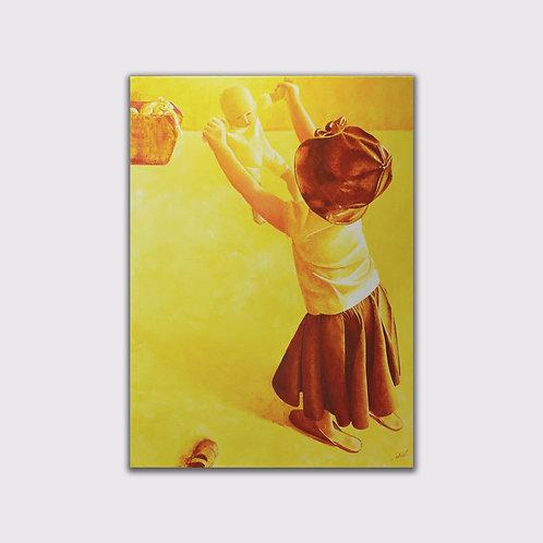 Dansons la capucine, 100 x 80, acrylique sur toile, 2016