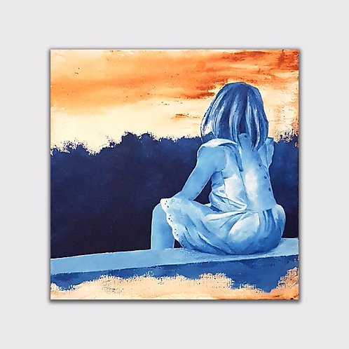 Au Parc 3, 50 x 50 cm, acrylique sur toile, 2019