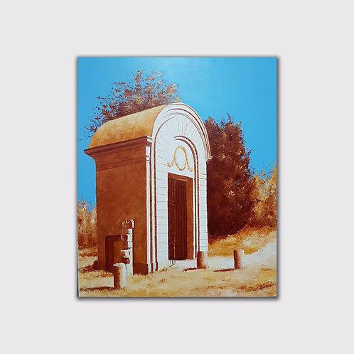 La porte, 65 x 54, acrylique sur toile, 2018