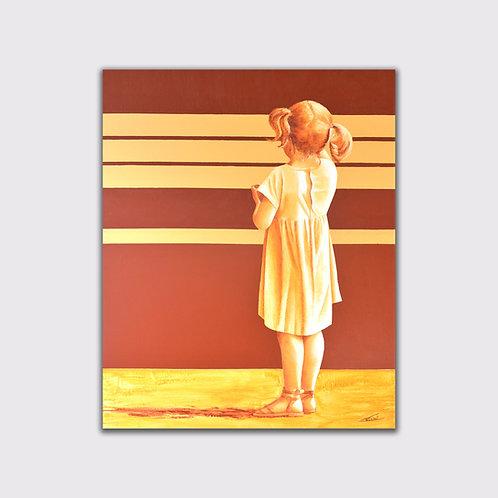 Panchina 1, 100 x 80 cm, acrylique sur toile, 2018