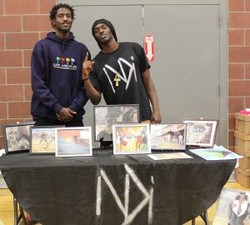 Axel (left) and Lucien (Right) Lekea vending reppin NDI
