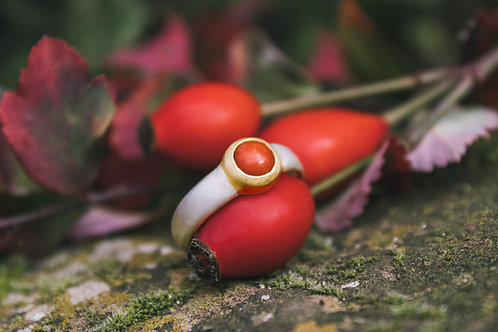 Classic Coral Ring Andi