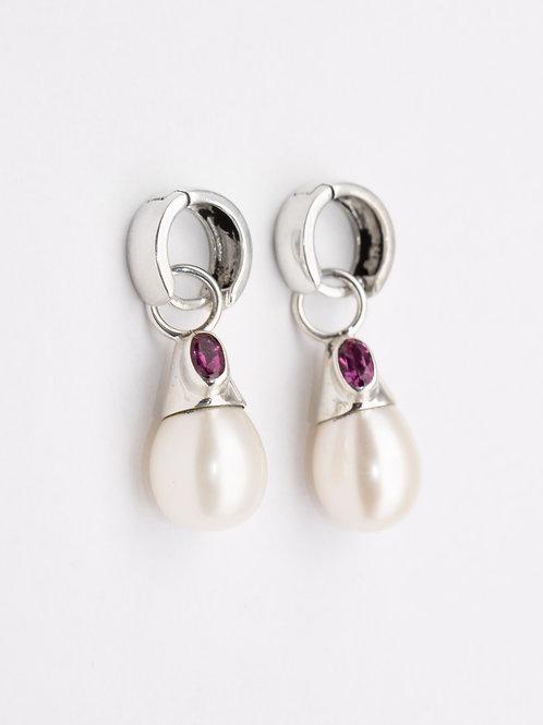 Pearl & Tourmaline Earrings