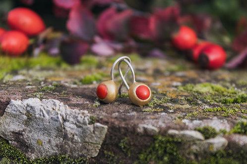Classic Coral Mox Earrings