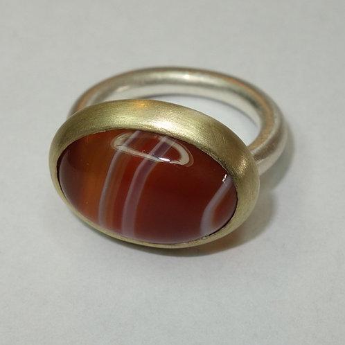 Striped carneleon ring