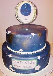 Galaxy Horoscope Cake