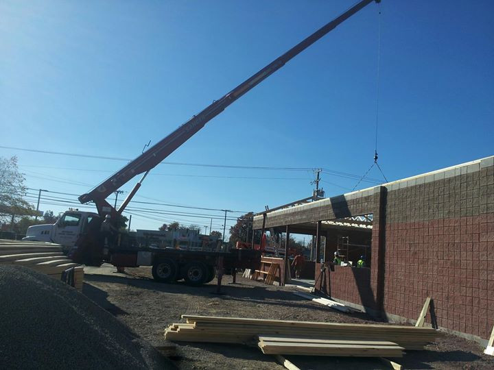 gas station roof trusses
