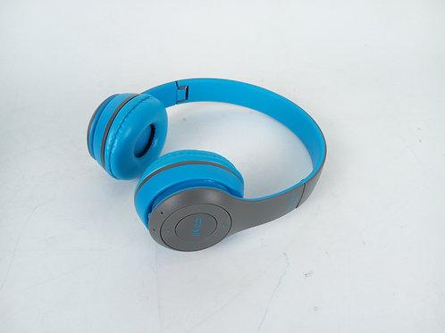 Blue Bluetooth Head Phones