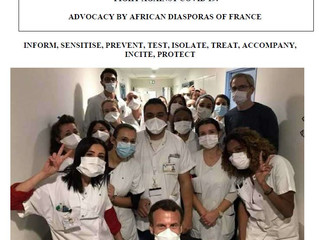 COUNCIL OF AFRICAN DIASPORA OF FRANCE (CDAF) - FIGHT AGAINST COVID 19