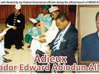 Adieux Ambassador Edward Abiodun AINA.