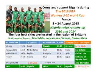 Come and support Nigerian Women U-20 world Cup!!