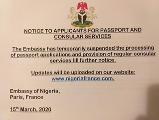 COVID-19: NOTICE TO APPLICANTS FOR PASSPORT AND CONSULAR SERVICES
