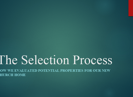 UUCBV Property Selection Presentation