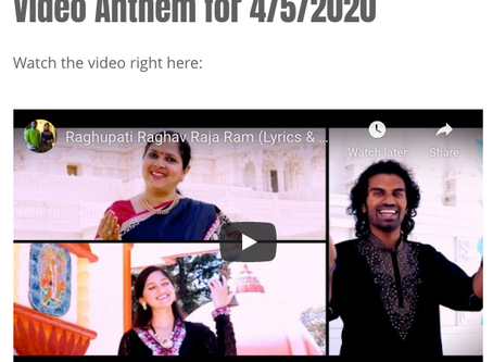 Video Anthem for 4/5/2020