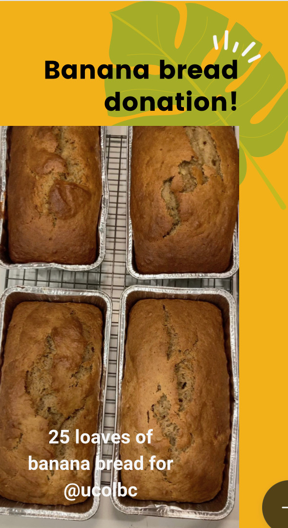 Banana Bread Donation