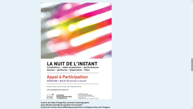 2018 La Nuit de l'Instant, França.