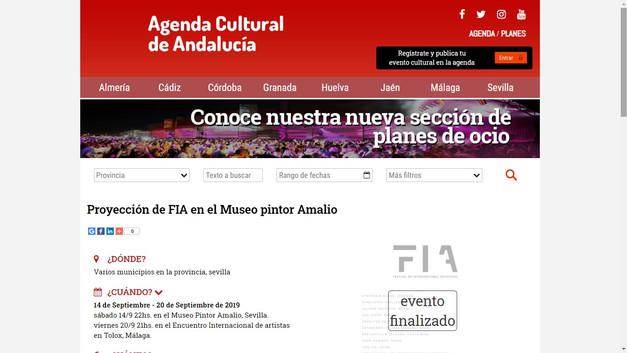 2019 FIA (Diario de Andalucia), Espanha.