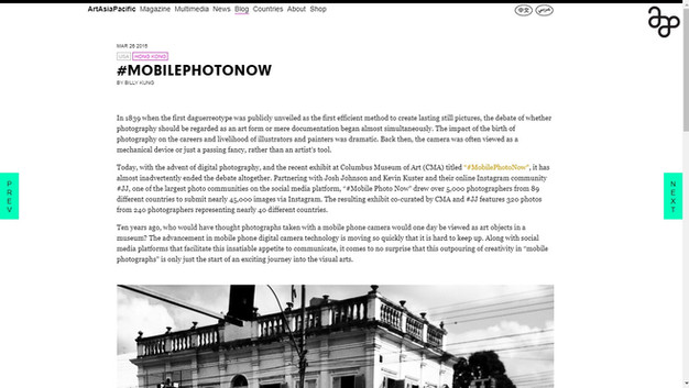2015 #MobilePhotoNow (ArtAsiaPacific), EUA.