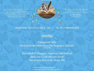 """""""Campania Felix. Festival della letteratura per ragazzi e giovani"""". Dal 15 al 17 Maggio 1000 student"""