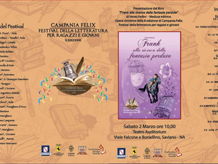 """Presentazione del libro """"Frank alla ricerca della fantasia perduta"""" di Vanes Ferlini – Medusa Editri"""