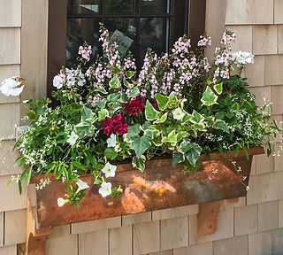 Nantucket Copper Flower Box