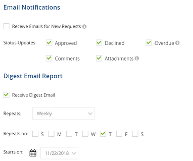 approval notifications