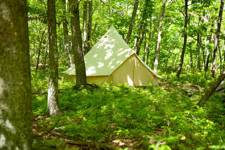 15' tent outside