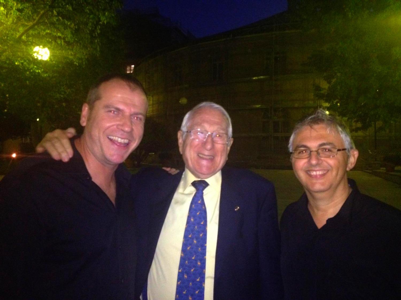 Con mis buenos maestros Pedro Iturralde y Joaquín Franco