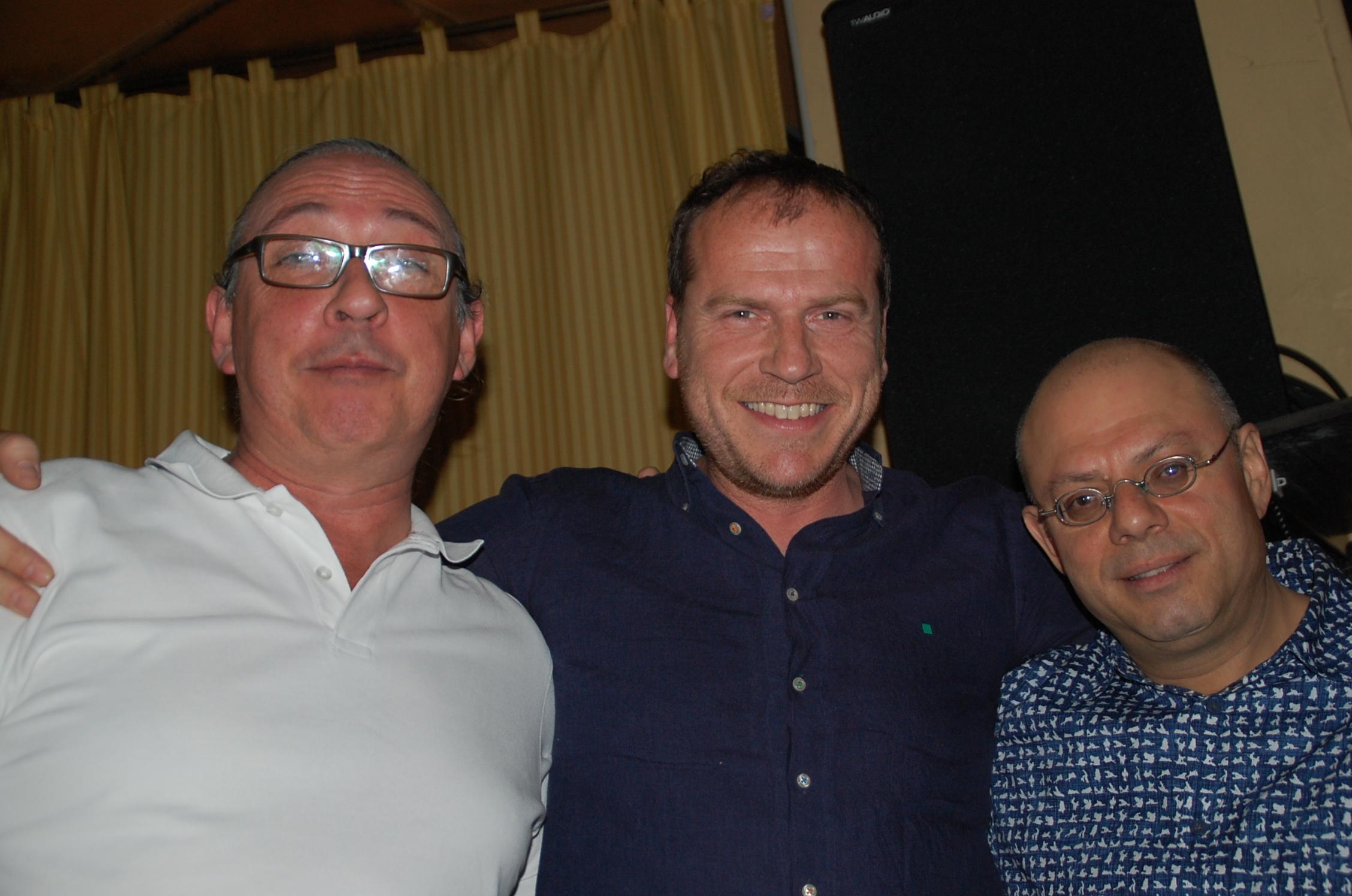 junto a Mariano Díaz y Richy Ferrer