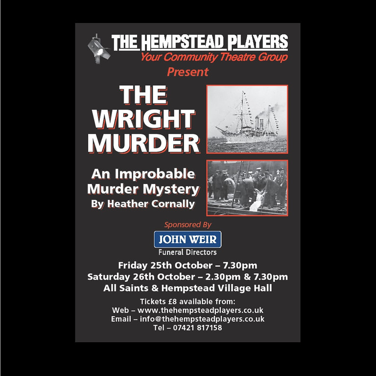 The Wright Murder - 7.30pm