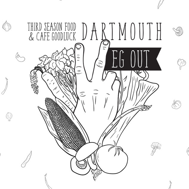 Dartmouth Veg Out event poster