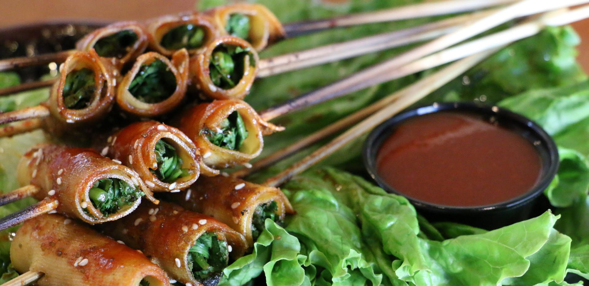豆皮青菜卷