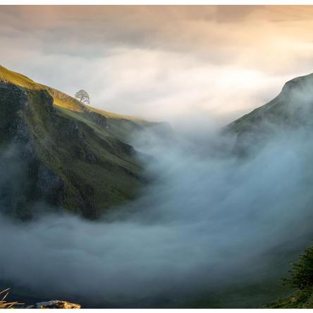 Winnats in mist